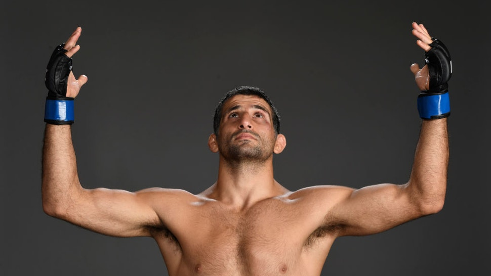HOUSTON, TEXAS - MAY 15: Beneil Dariush poses for a post fight portrait backstage during the UFC 262 event at Toyota Center on May 15, 2021 in Houston, Texas. (Photo by Mike Roach/Zuffa LLC)
