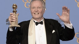 BEVERLY HILLS, CA - JANUARY 12: Actor Jon Voight, winner of Best Supporting Actor in a Series, Miniseries, or Television Film for 'Ray Donovan,' poses in the press room during the 71st Annual Golden Globe Awards held at The Beverly Hilton Hotel on January 12, 2014 in Beverly Hills, California. (Photo by Kevin Winter/Getty Images)