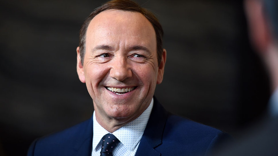 HOLLYWOOD, CA - APRIL 25: Actor Kevin Spacey arrives at the 4th Annual Reel Stories, Real Lives event benefiting the Motion Picture & Television Fund at Milk Studios on April 25, 2015 in Hollywood, California. (Photo by Amanda Edwards/WireImage)
