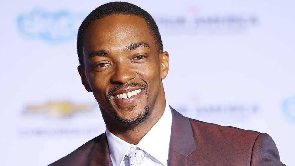 """HOLLYWOOD, CA - MARCH 13: Anthony Mackie arrives at the Los Angeles premiere of """"Captain America: The Winter Soldier"""" held at the El Capitan Theatre on March 13, 2014 in Hollywood, California. (Photo by Michael Tran/FilmMagic)"""