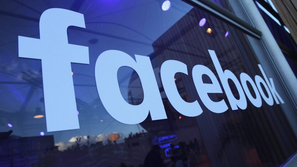 BERLIN, GERMANY - FEBRUARY 24: The Facebook logo is displayed at the Facebook Innovation Hub on February 24, 2016 in Berlin, Germany. The Facebook Innovation Hub is a temporary exhibition space where the company is showcasing some of its newest technologies and projects.
