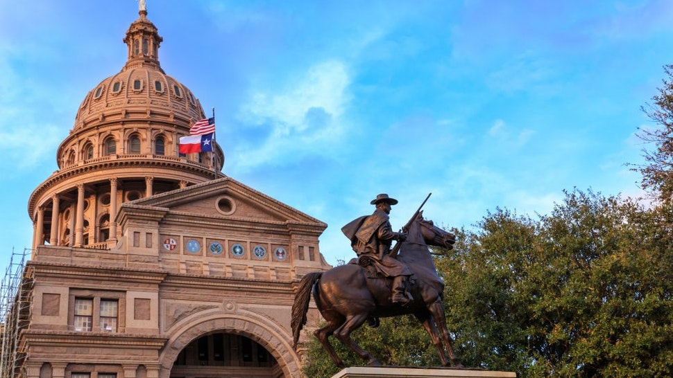 Texas Capitol and Ranger Statue