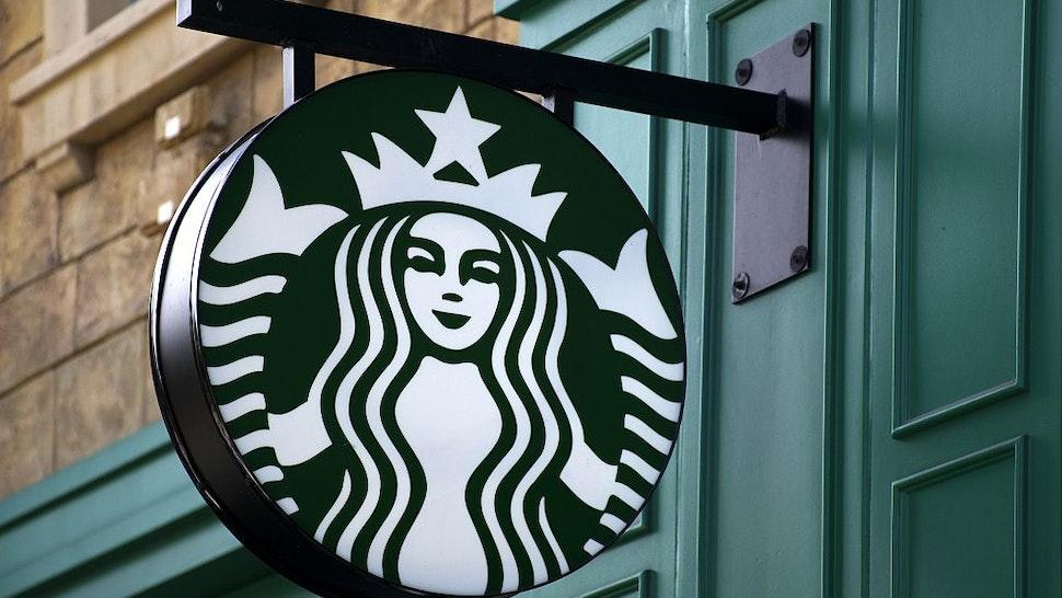 LAS VEGAS, NV - MARCH 28: A Starbucks coffee shop on the Strip (Las Vegas Boulevard) in Las Vegas, Nevada.