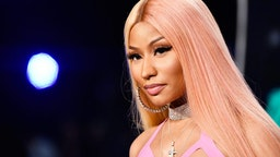 INGLEWOOD, CA - AUGUST 27: Nicki Minaj attends the 2017 MTV Video Music Awards at The Forum on August 27, 2017 in Inglewood, California.