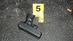 BERKELEY, MISSOURI - DECEMBER 24: In this handout provided by the St. Louis County Police Department, a handgun is pictured that was recovered following the officer involved shooting at the Mobil on the Run gas station on December 24, 2014 in Berkeley, Missouri.