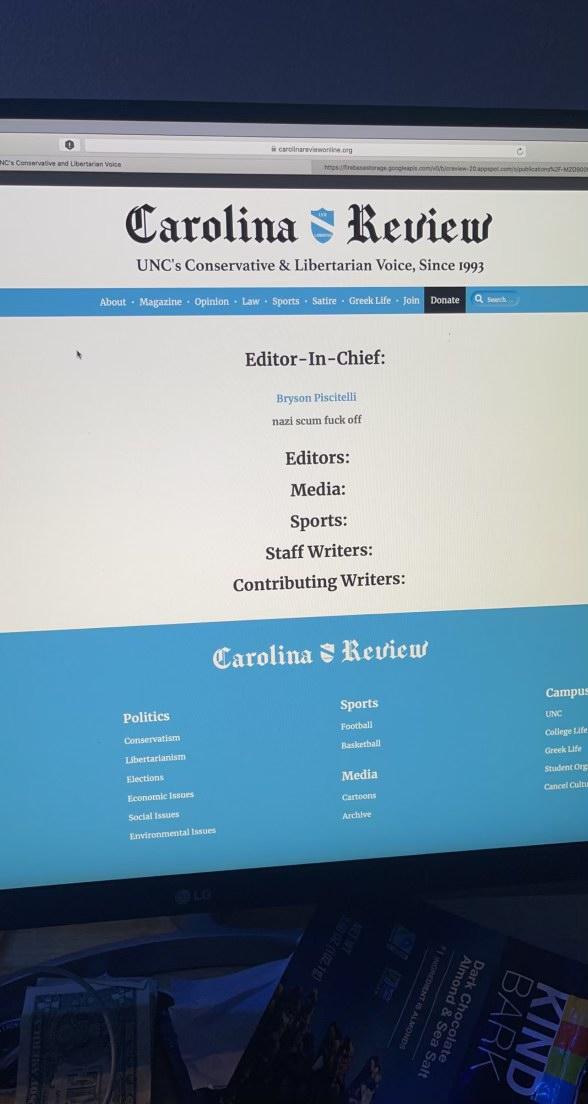 University Of North Carolina Student Publication Vandalized, Hacked: 'Nazi Scum F**k Off'