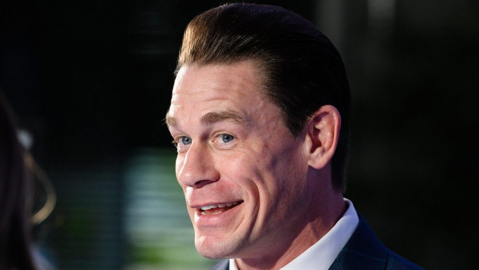 "BURBANK, CALIFORNIA - JANUARY 15: John Cena visits ""Extra"" at Burbank Studios on January 15, 2020 in Burbank, California."