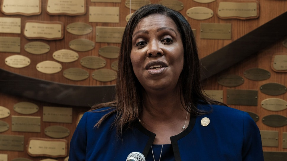 ROCHESTER, NY - SEPTEMBER 20: New York State Attorney General Letitia James speaks at a news conference about the ongoing investigation into the death of Daniel Prude on September 20, 2020 in Rochester, New York. Prude, who is Black, died March 30 after being taken off life support following his arrest by Rochester police.
