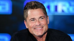 "BURBANK, CALIFORNIA - JANUARY 29: Rob Lowe visits ""Extra"" at Burbank Studios on January 29, 2020 in Burbank, California."