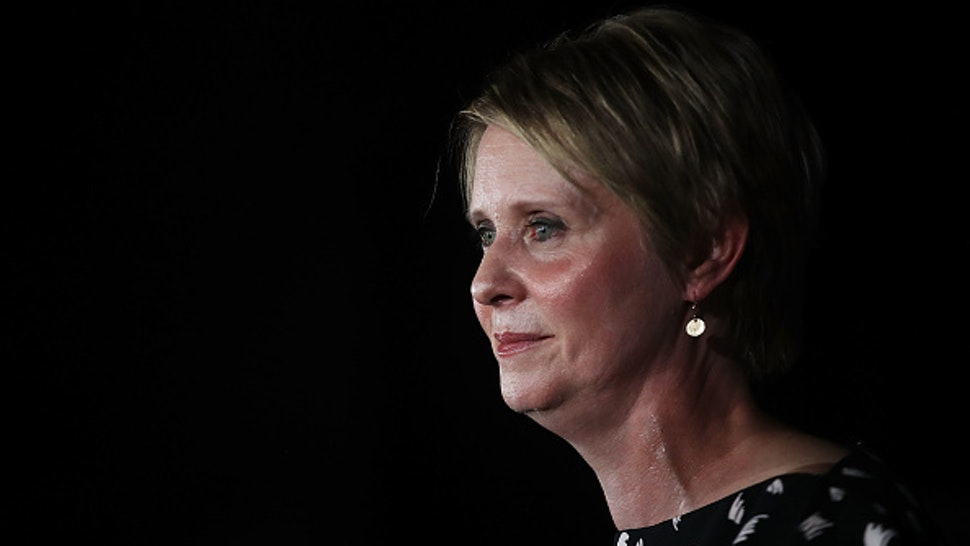 NEW YORK, NY - SEPTEMBER 13: New York Democratic primary candidate for governor Cynthia Nixon makes a concession speech at a Brooklyn restaurant on September 13, 2018 in New York City. In a race where she sought to attract disenfranchised voters and those on the left, the actress and activist was challenging the incumbent governor Andrew Cuomo.