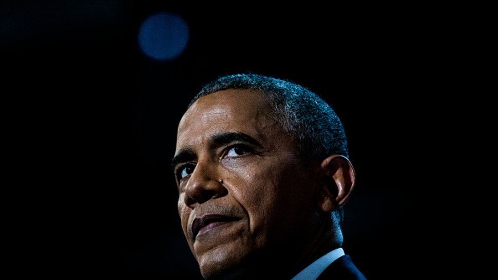 PHILADELPHIA, PA - JULY 27, 2016: President Barack Obama addresses the Democratic National Convention in Philadelphia, PA.