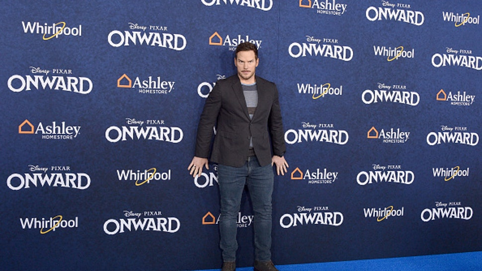 """HOLLYWOOD, CALIFORNIA - FEBRUARY 18: Chris Pratt attends the Premiere Of Disney And Pixar's """"Onward"""" on February 18, 2020 in Hollywood, California."""