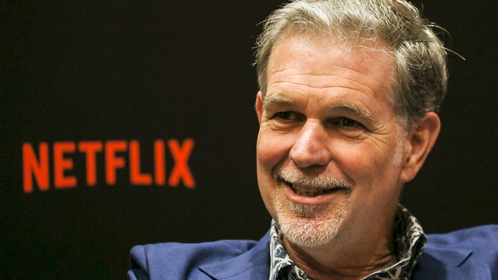 SINGAPORE - NOVEMBER 09: Netflix CEO Reed Hastings speaks during an interview on day two of the Netflix See What's Next: Asia event at the Marina Bay Sands on November 9, 2018 in Singapore.