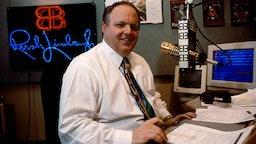Rush Limbaugh in His Studio During His Radio Show