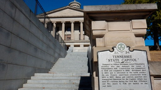 Greek Revival architecture, Tennessee State Capitol, Nashville.