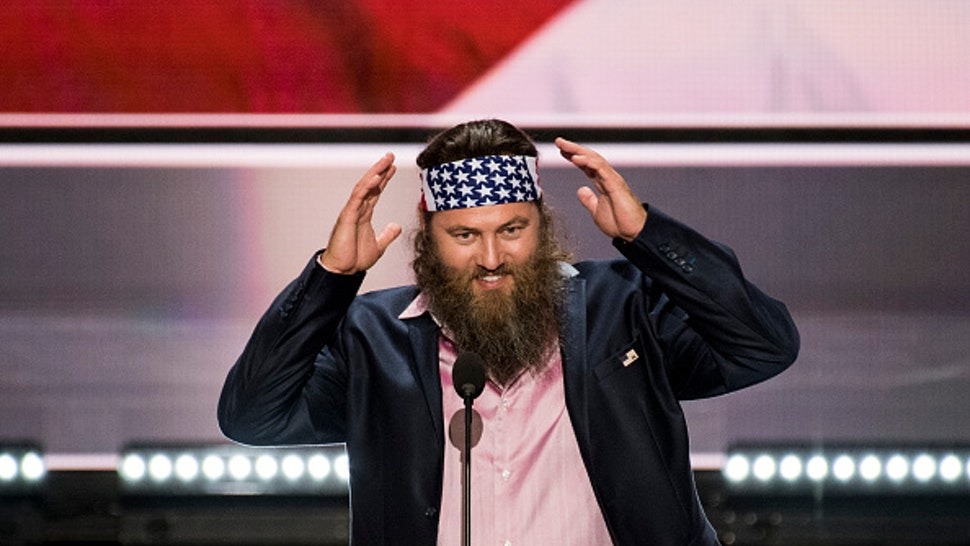 """UNITED STATES - JULY 18: Willie Robertson, of the """"Duck Dynasty"""" television show, speaks at the 2016 Republican National Convention in Cleveland, Ohio on Monday, July 18, 2016."""