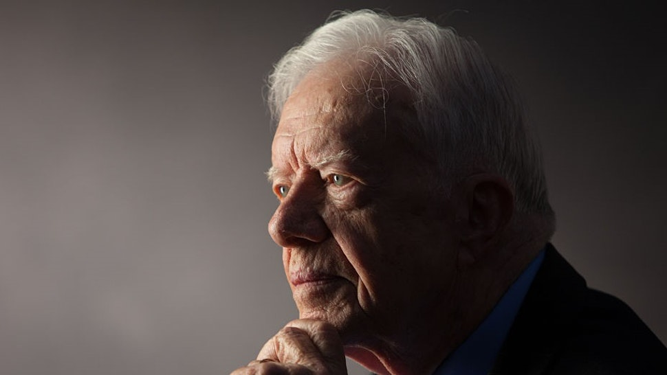"""ATLANTA -- SEPT 14: Former President Jimmy Carter interviewed for """"The Presidents' Gatekeepers"""" project at the Carter Center, Atlanta, Georgia, September 14, 2011. (Photo by"""