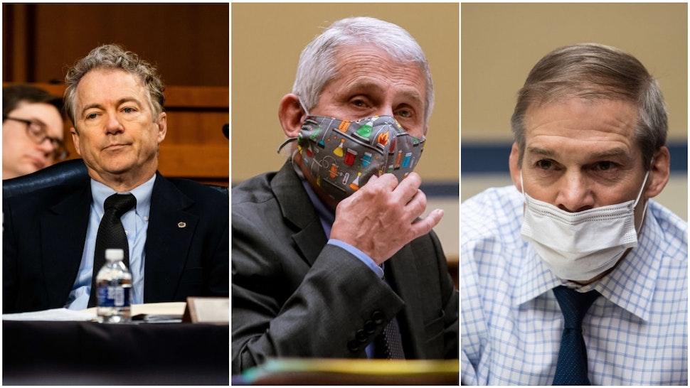 Rep. Rand Paul, Dr. Anthony Fauci, Rep. Jim Jordan