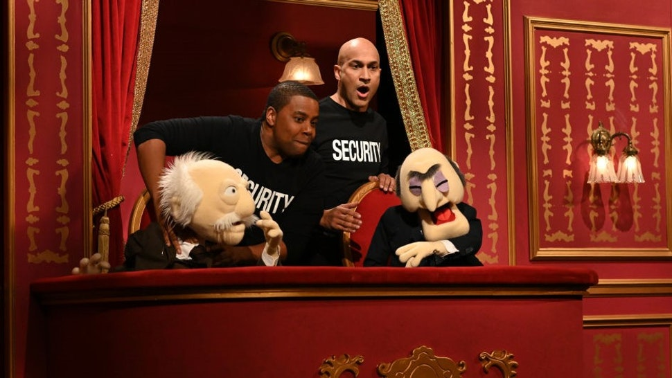 """SATURDAY NIGHT LIVE -- """"Keegan-Michael Key"""" Episode 1804 -- Pictured: (l-r) Kenan Thompson and host Keegan-Michael Key during the """"Muppet Show"""" sketch on Saturday, May 15, 2021 -- (Photo By:"""