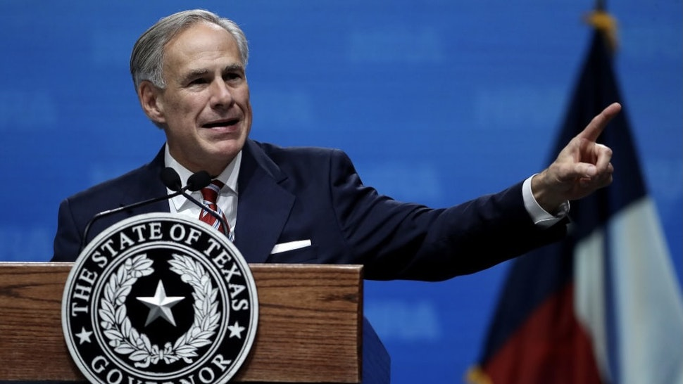 National Rifle Association Holds Its Annual Conference In Dallas, Texas DALLAS, TX - MAY 04: Texas Gov. Greg Abbott speaks at the NRA-ILA Leadership Forum during the NRA Annual Meeting & Exhibits at the Kay Bailey Hutchison Convention Center on May 4, 2018 in Dallas, Texas. The National Rifle Association's annual meeting and exhibit runs through Sunday. (Photo by Justin Sullivan/Getty Images) Justin Sullivan / Staff via Getty Images