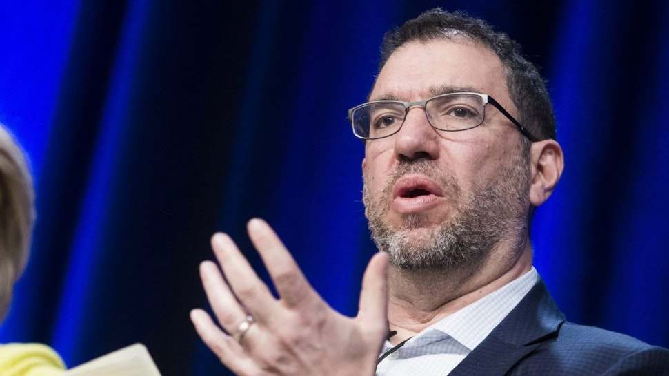 UNITED STATES - APRIL 11: Andy Slavitt, former administrator of the Centers for Medicare and Medicaid Services, and Dr. Rebekah Gee, secretary of the Louisiana Department of Health, speak during a health care panel discussion at the House Democrats' 2019 Issues Conference at the Lansdowne Resort and Spa in Leesburg, Va., on Thursday, April 11, 2019.
