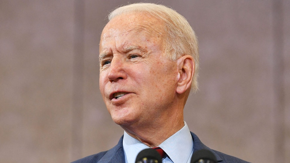US President Joe Biden speaks after visiting a mobile vaccination unit at the Green Road Community Center in Raleigh, North Carolina on June 24, 2021.