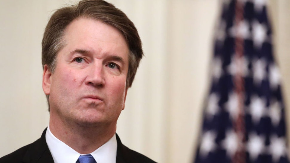 WASHINGTON, DC - OCTOBER 08: U.S. Supreme Court Associate Justice Brett Kavanaugh attends his ceremonial swearing in in the East Room of the White House October 08, 2018 in Washington, DC. Kavanaugh was confirmed in the Senate 50-48 after a contentious process that included several women accusing Kavanaugh of sexual assault. Kavanaugh has denied the allegations.