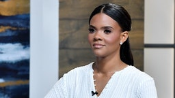 """Candace Owens is seen on the set of """"Candace"""" on June 21, 2021 in Nashville, Tennessee. The show will air on Tuesday, June 22, 2021. (Photo by Jason Davis/Getty Images)"""