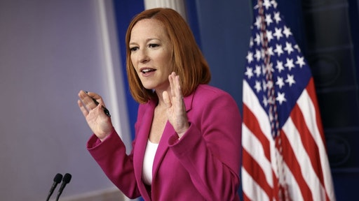 Press Secretary Jen Psaki Holds Daily Briefing At The White House WASHINGTON, DC - JUNE 22: White House Press Secretary Jen Psaki holds a press briefing at the White House on June 22, 2021 in Washington, DC. Psaki spoke on the voting reform bill and emergency preparedness for the upcoming hurricane season. (Photo by Kevin Dietsch/Getty Images) Kevin Dietsch / Staff via Getty Images