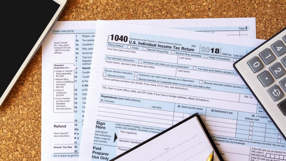 U.S Tax Filing - stock photo