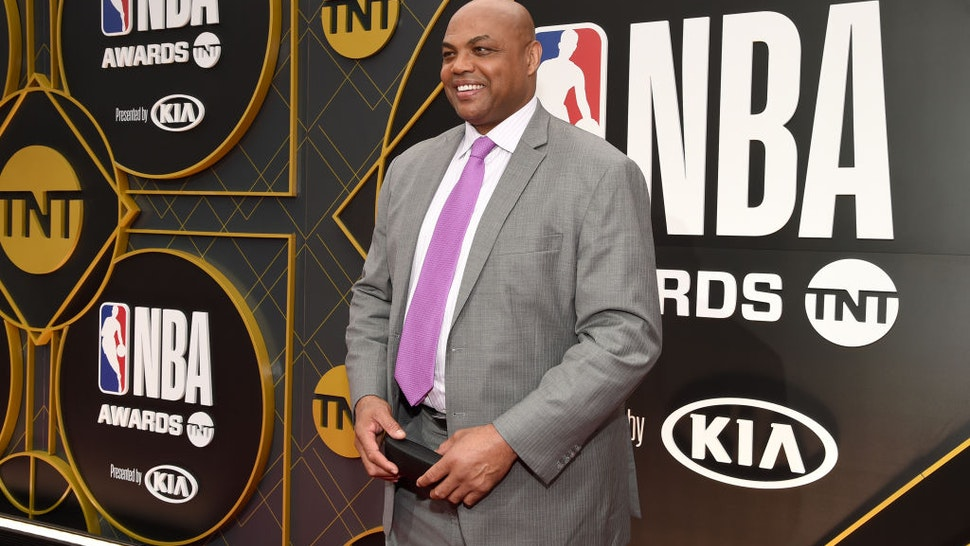 SANTA MONICA, CALIFORNIA - JUNE 24: Charles Barkley attends the 2019 NBA Awards presented by Kia on TNT at Barker Hangar on June 24, 2019 in Santa Monica, California. (Photo by Michael Kovac/Getty Images for Turner Sports)