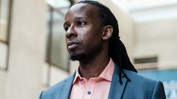 """WASHINGTON, US - SEPTEMBER 26: American University professor Dr. Ibram X. Kendi, stands for a portrait at the School of International Service following a panel discussion on his new book """" How to Be an Antiracist"""" in Washington, DC. Kendi's discussion spoke on strategies to identify and overcome racism on September 26, 2019 in Washington, DC. (Michael A. McCoy/For The Washington Post)"""