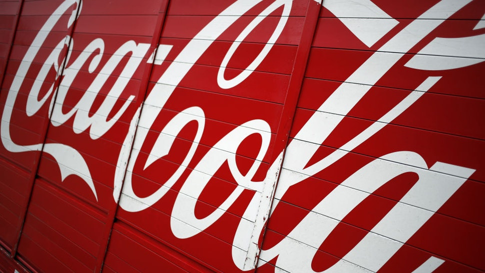 Signage is displayed on a Coca-Cola Co. delivery truck in Frankfort, Kentucky, U.S., on Monday, Feb. 10, 2020.