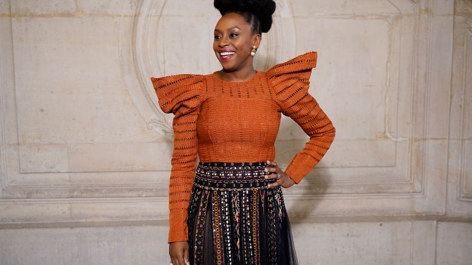Chimamanda Ngozi Adichie attends the Dior Haute Couture Spring/Summer 2020 show as part of Paris Fashion Week on January 20, 2020 in Paris, France.