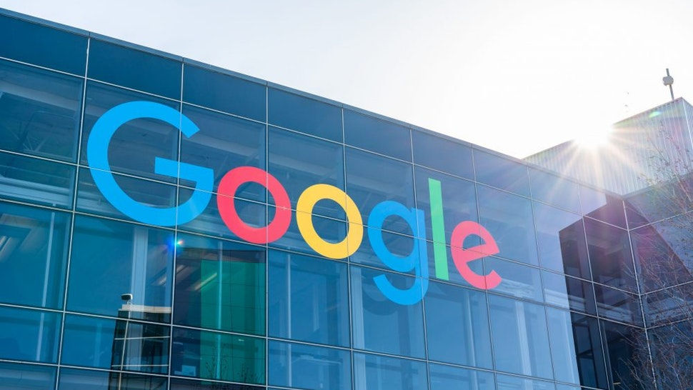 MOUNTAIN VIEW, UNITED STATES - 2020/02/23: American multinational technology company Google logo seen at Googleplex, the corporate headquarters complex of Google and its parent company Alphabet Inc.