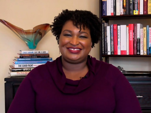 THE TONIGHT SHOW STARRING JIMMY FALLON -- Episode1345A -- Pictured in this screengrab: Politician Stacey Abrams during an interview on October 30, 2020 -- (Photo By: NBC/NBCU Photo Bank via Getty Images)