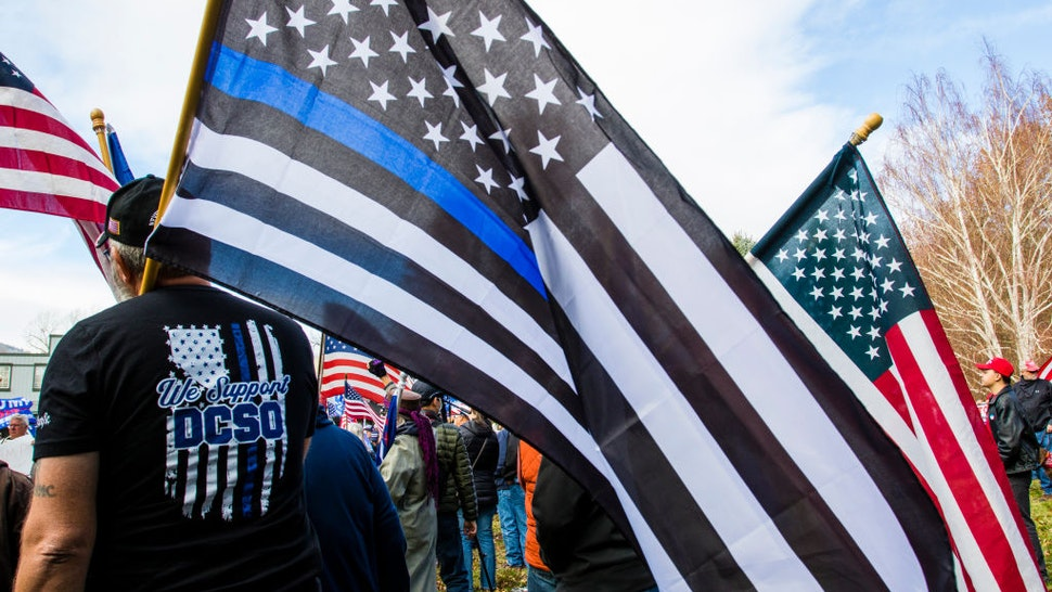 Blue Lives Matter flag