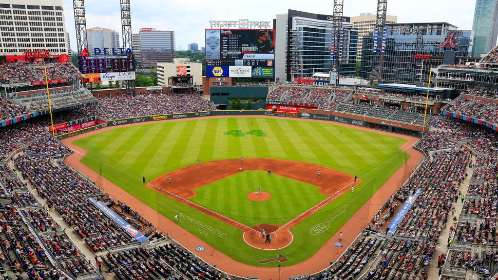 ATLANTA, GA - JUNE 06: An overview of the stadium and field during the Sunday afternoon MLB game between the Atlanta Braves and the Los Angeles Dodgers on June 6, 2021 at Truist Park in Atlanta, Georgia. (Photo by David J. Griffin/Icon Sportswire via Getty Images)