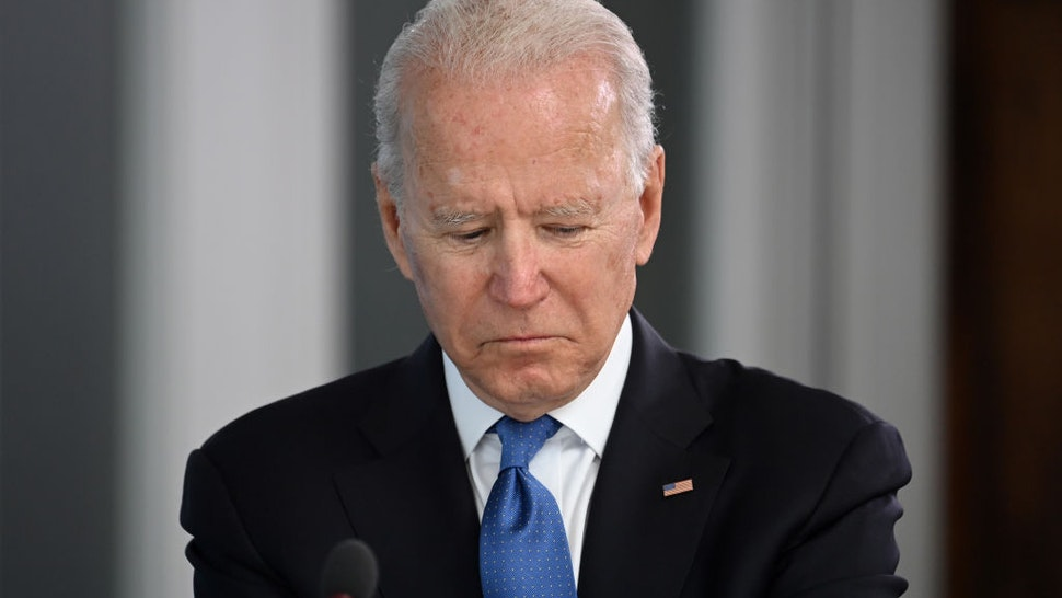 CARBIS BAY, CORNWALL - JUNE 11: US President Joe Biden attends the G7 Summit In Carbis Bay, on June 11, 2021 in Carbis Bay, Cornwall. UK Prime Minister, Boris Johnson, hosts leaders from the USA, Japan, Germany, France, Italy and Canada at the G7 Summit. This year the UK has invited India, South Africa, and South Korea to attend the Leaders' Summit as guest countries as well as the EU. (Photo by Leon Neal - WPA Pool/Getty Images)