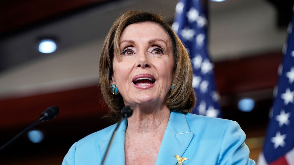 Speaker of the House Nancy Pelosi (D-CA) speaks during her weekly media availability on Capitol Hill on June 17, 2021 in Washington, DC.