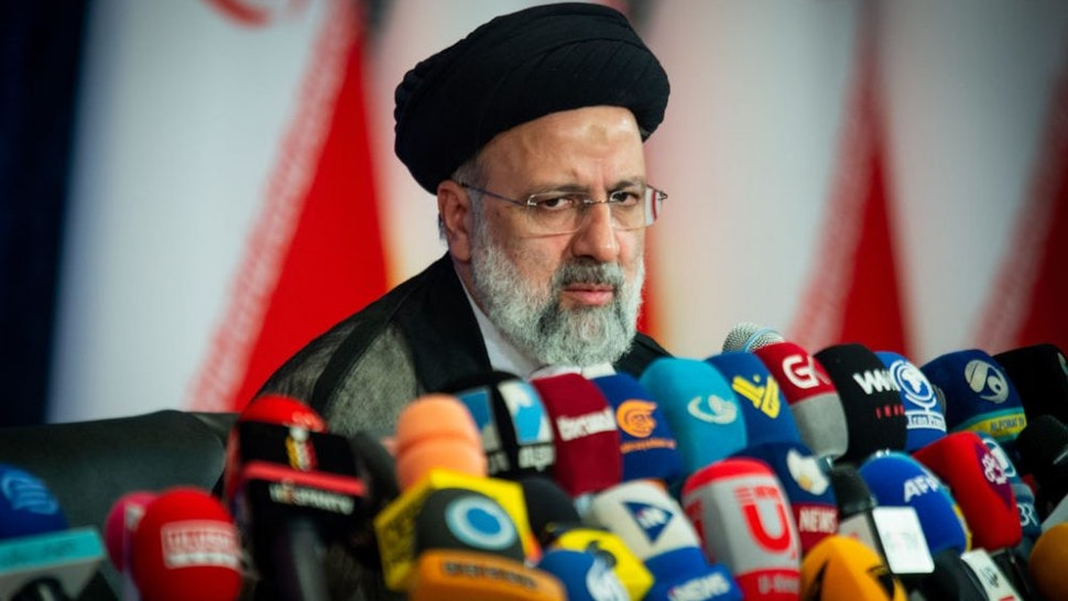 Ebrahim Raisi, Iran's president, holds his first news conference following his victory in the presidential election in Tehran, Iran, on Monday, June 21, 2021. World powers and Iran failed after a sixth round of negotiations in Vienna to revive a nuclear deal that would lift U.S. sanctions on the oil-rich Islamic Republic in exchange for it scaling back its atomic activities.