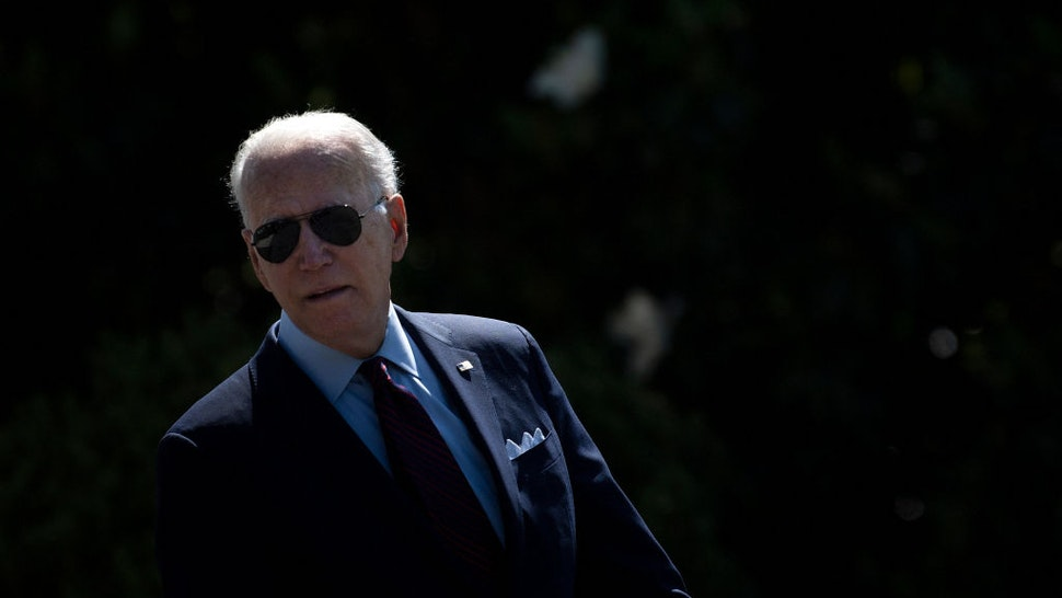 US President Joe Biden walks to Marine One on the South Lawn of the White House on June 29, 2021, in Washington, DC en route to an event in Wisconsin. (Photo by Brendan Smialowski / AFP) (Photo by BRENDAN SMIALOWSKI/AFP via Getty Images)