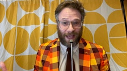 UNSPECIFIED - OCTOBER 21: In this screengrab, host and HFC founder Seth Rogen speaks during Hilarity For Charity's Head To Head Virtual Game Night, hosted by Seth Rogen, presented by Biogen, on October 21, 2020. Hilarity For Charity's Head To Head Virtual Game Night is a 70s-themed fundraiser benefitting Alzheimer's awareness. (Photo by Getty Images/Getty Images for Hilarity for Charity)