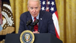 WASHINGTON, DC - JUNE 24: U.S. President Joe Biden delivers remarks on the Senate's bipartisan infrastructure deal at the White House on June 24, 2021 in Washington, DC. Biden said both sides made compromises on the nearly $1 trillion infrastructure bill (Photo by Kevin Dietsch/Getty Images)