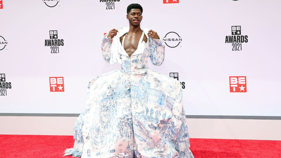LOS ANGELES, CALIFORNIA - JUNE 27: Lil Nas X attends the BET Awards 2021 at Microsoft Theater on June 27, 2021 in Los Angeles, California.