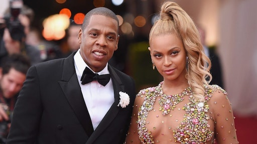 """NEW YORK, NY - MAY 04: Jay Z (L) and Beyonce attend the """"China: Through The Looking Glass"""" Costume Institute Benefit Gala at the Metropolitan Museum of Art on May 4, 2015 in New York City."""