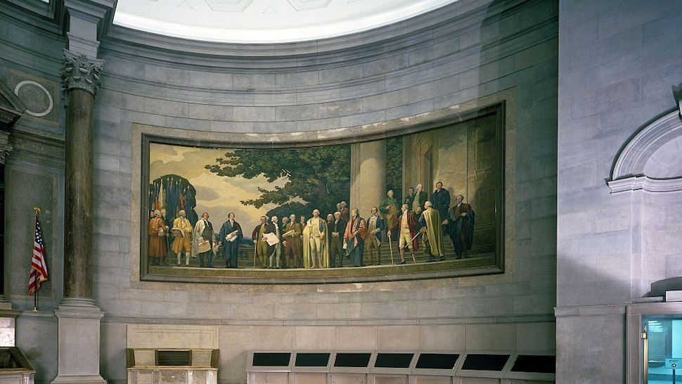 Barry Faulkner 1936 Constitution mural in the rotunda of the National Archives, Washington, D.C.