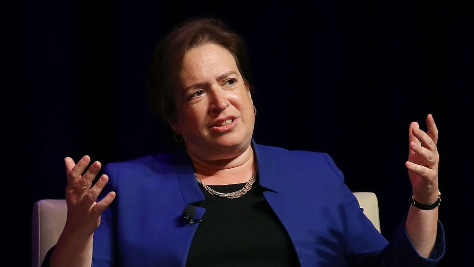 WASHINGTON, DC - SEPTEMBER 13: U.S. Supreme Court Associate Justice Elena Kagan participates in a discussion at the George Washington University Law School, September 13, 2016 in Washington, DC. (Photo by Mark Wilson/Getty Images)