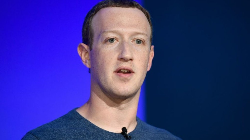 Facebook CEO Mark Zuckerberg speaks during a press conference in Paris on May 23, 2018.