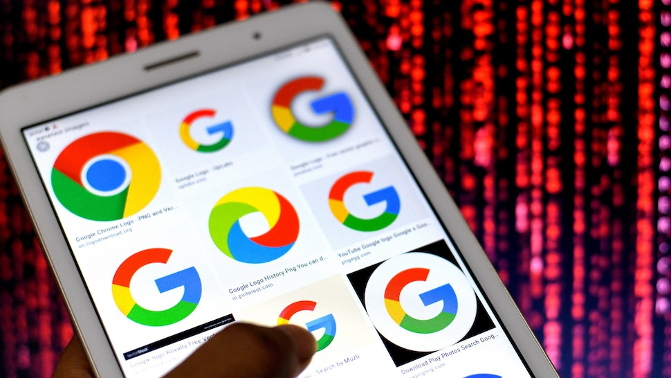 In this Photo illustration Google Logos seen displayed on an Android phone. (Photo Illustration by Avishek Das/SOPA Images/LightRocket via Getty Images)